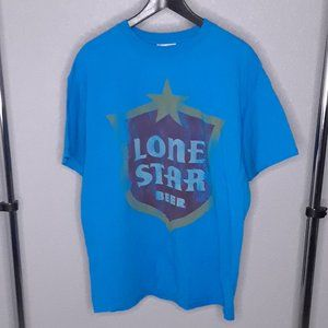 Lone Star Beer Junk Mail Tee - size Large, EUC